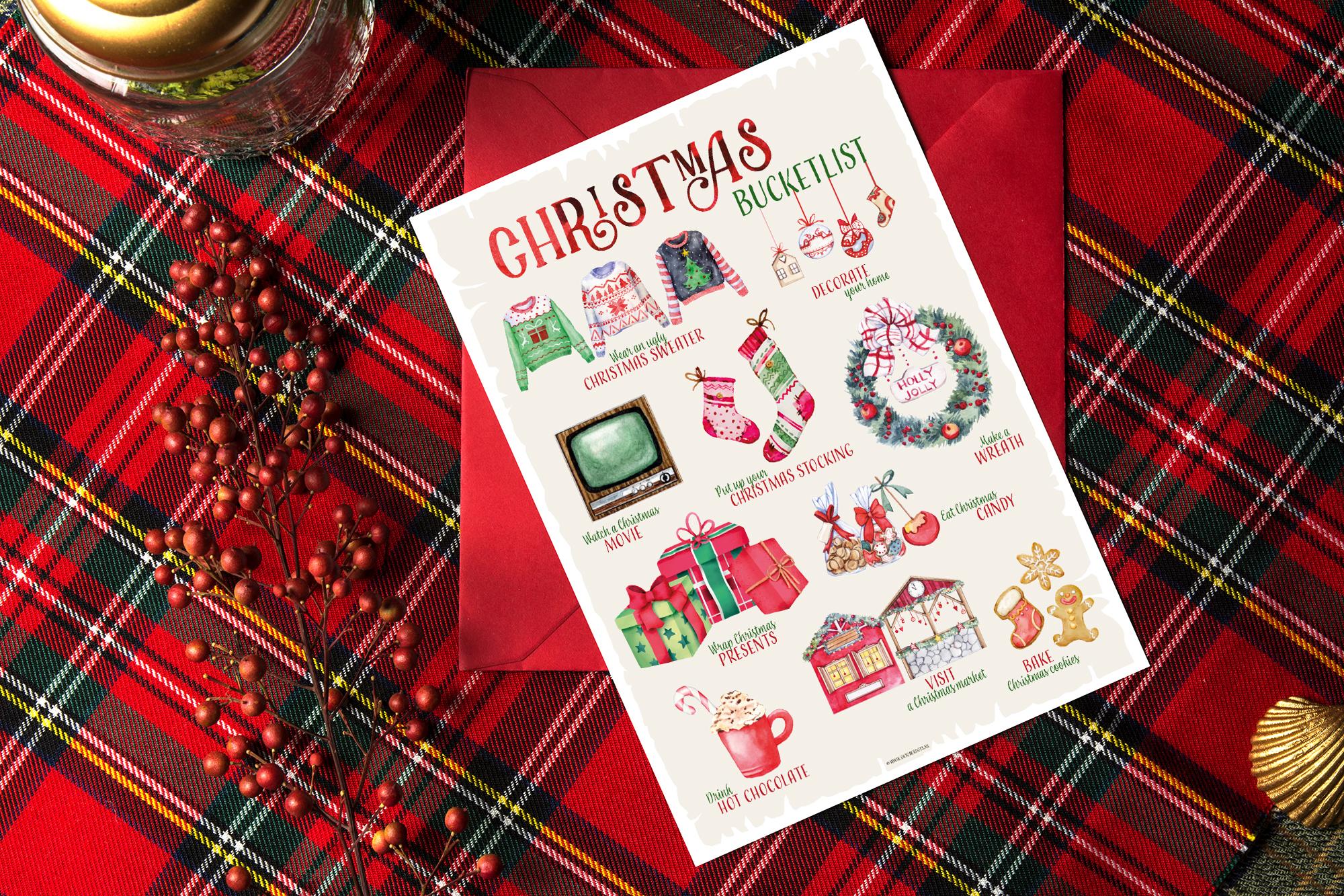Oktoberdots Christmas bucketlist free printable
