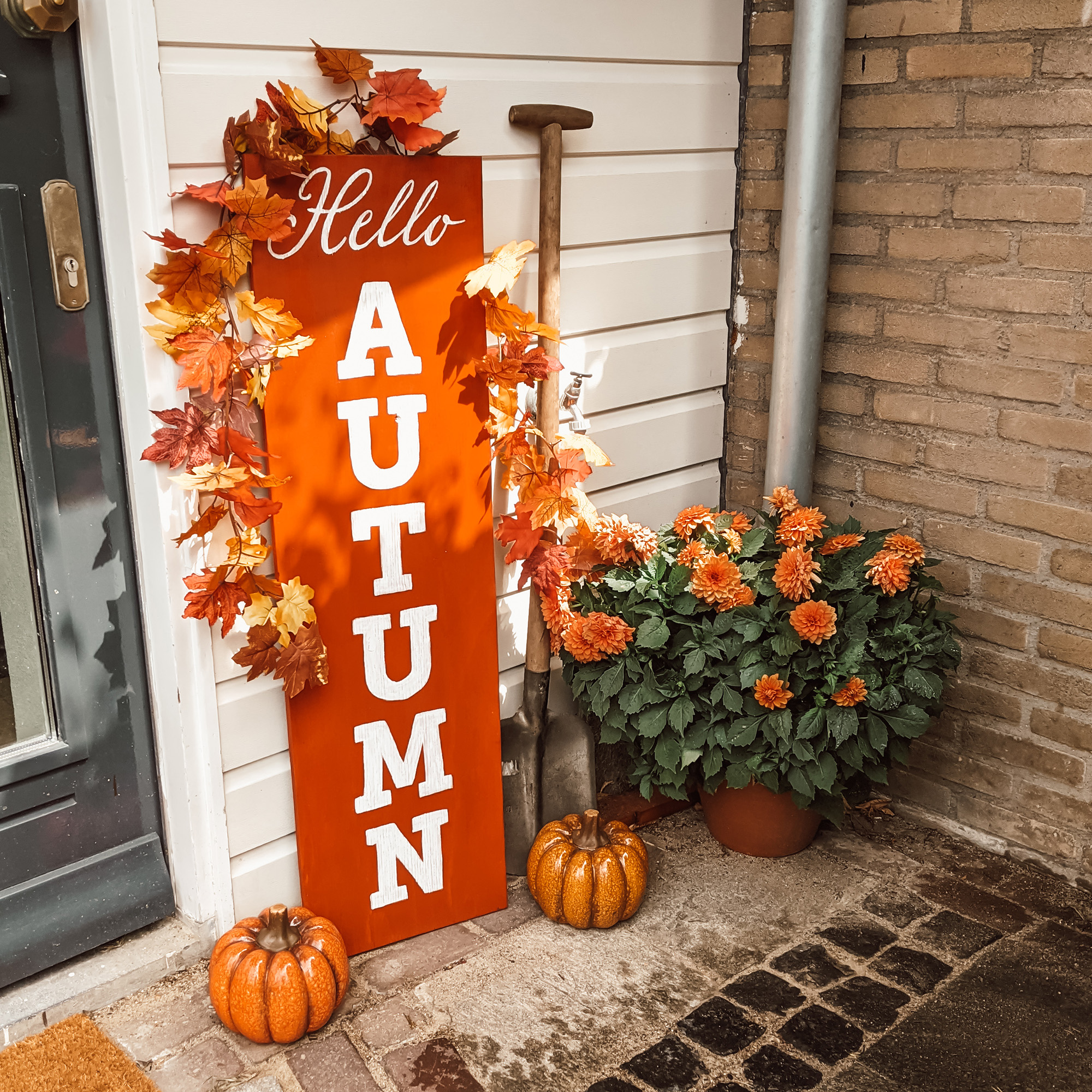 Oktoberdots Omkeerbaar Herfst & Halloween bord Hello Autumn