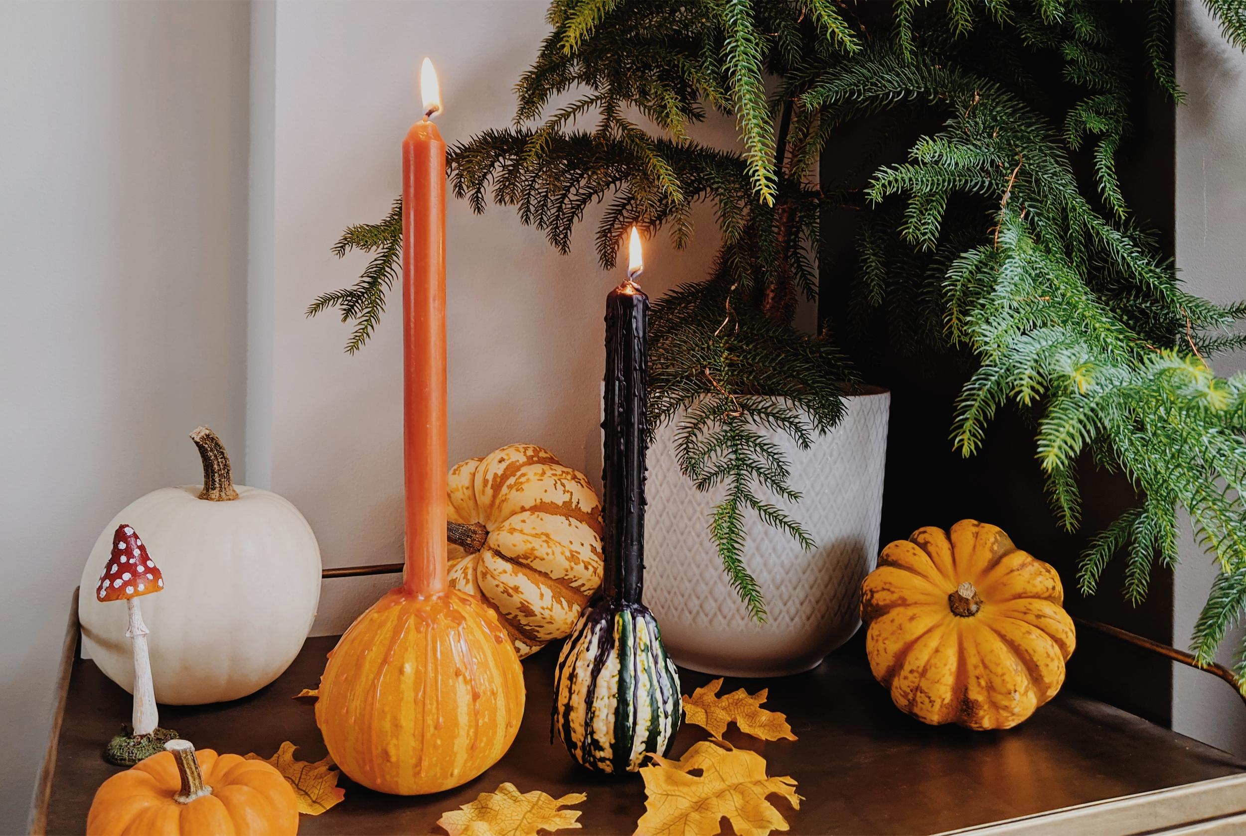 Oktoberdots Pompoen kaarsenhouder