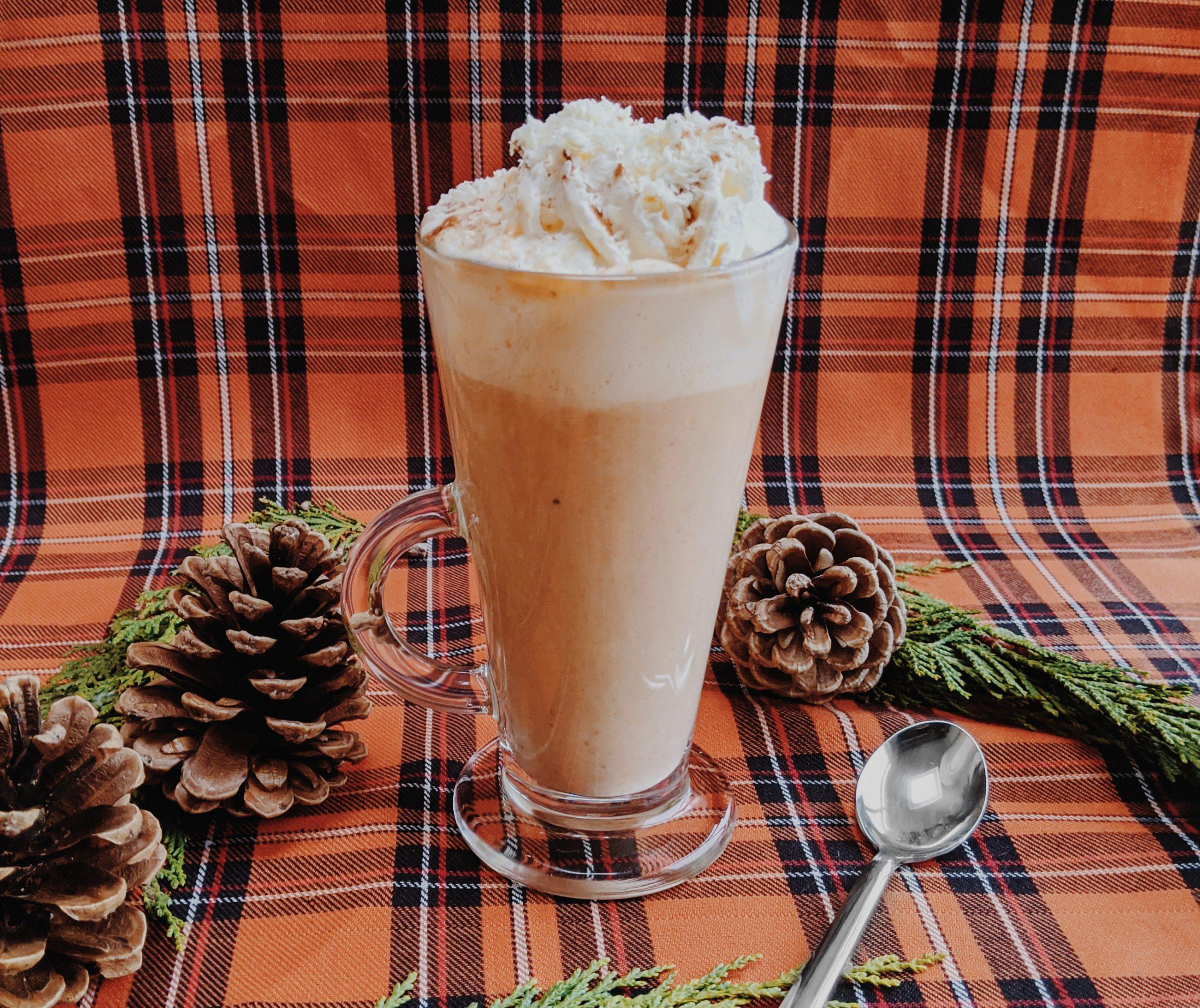 Oktoberdots White Hot Chocolate with Pumpkin