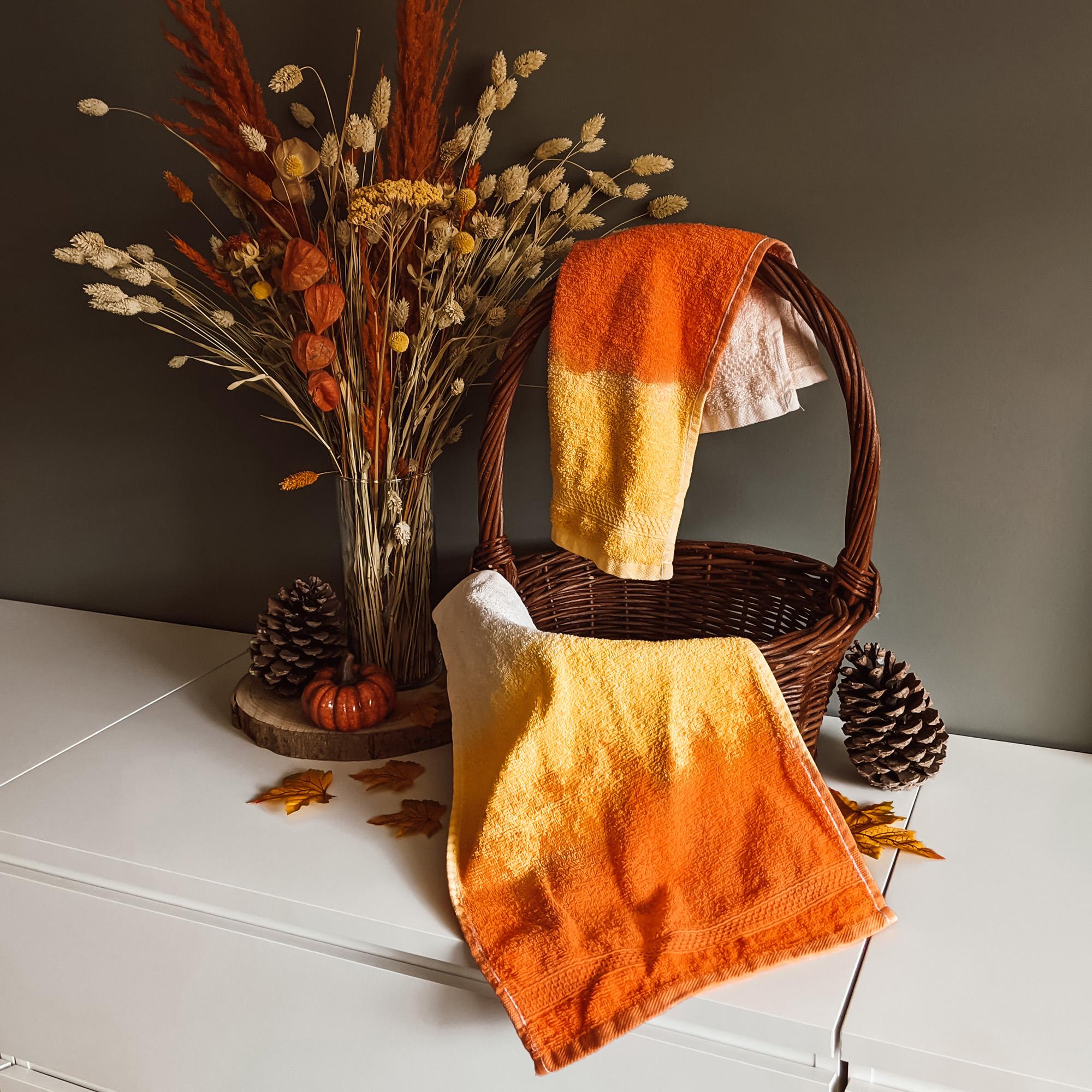 Candy Corn Halloween handdoekjes