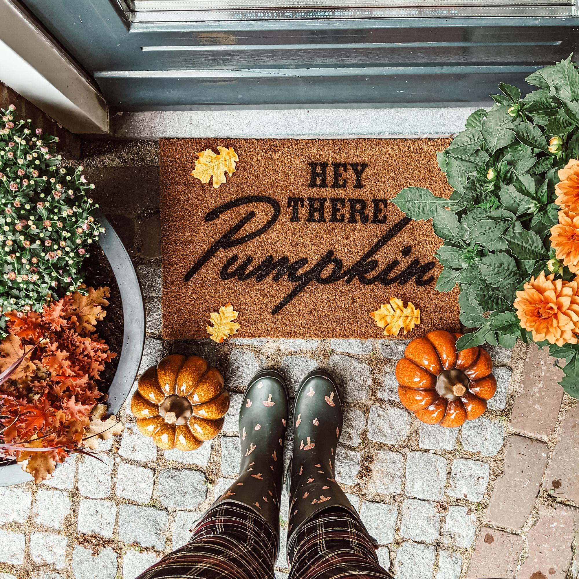 oktoberdots DIY herfst deurmat maken