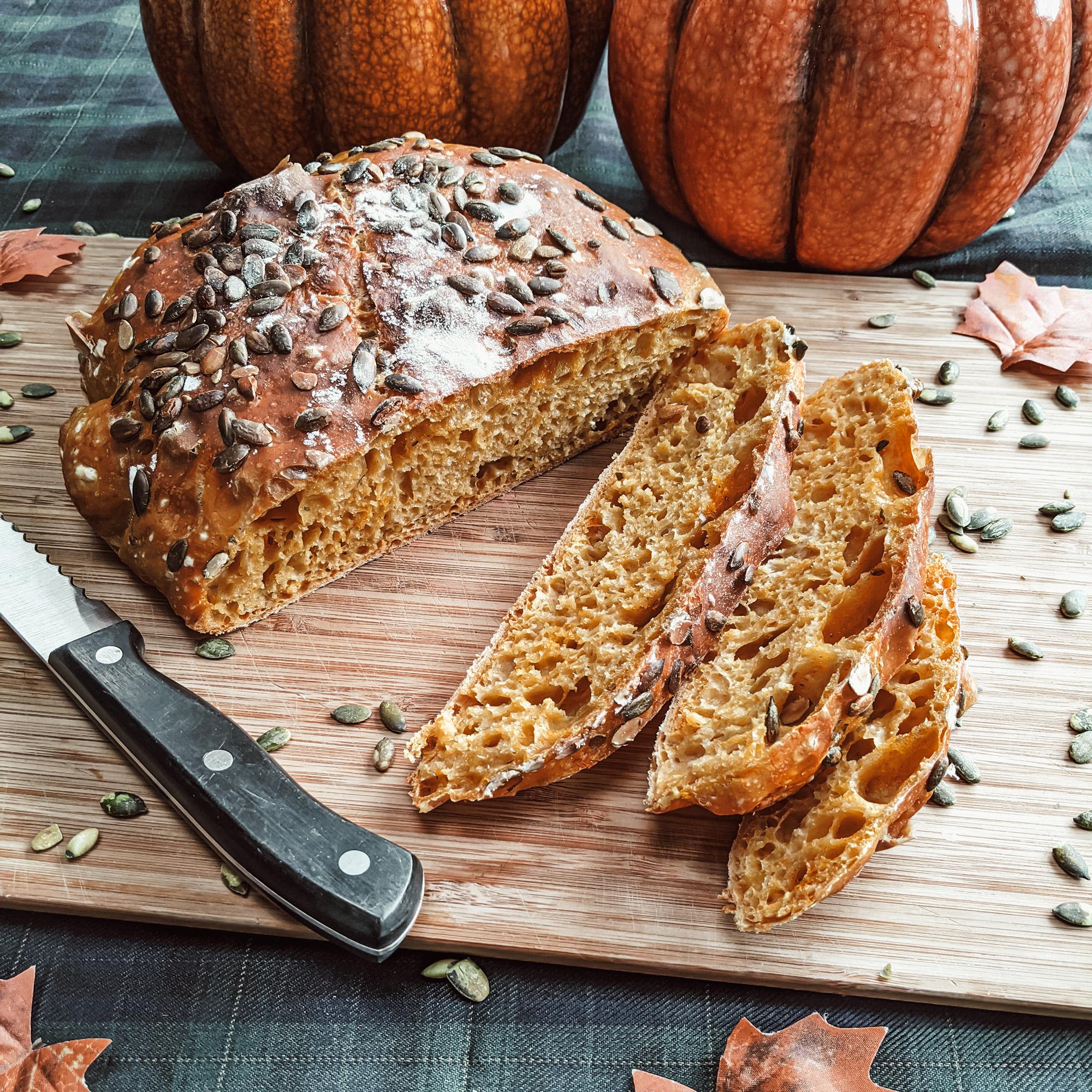 Oktoberdots pompoen brood