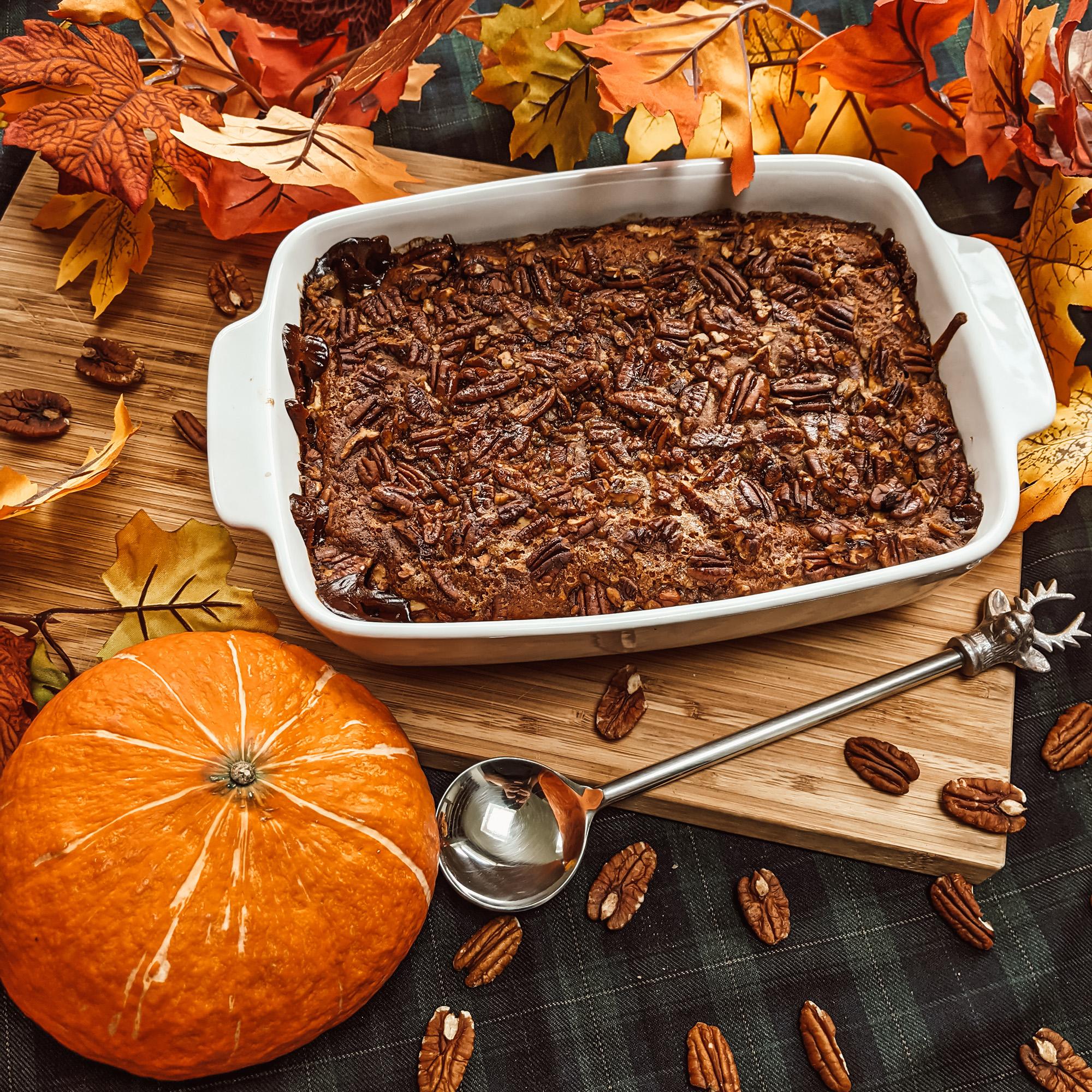 Oktoberdots recept pompoen pecan crumble