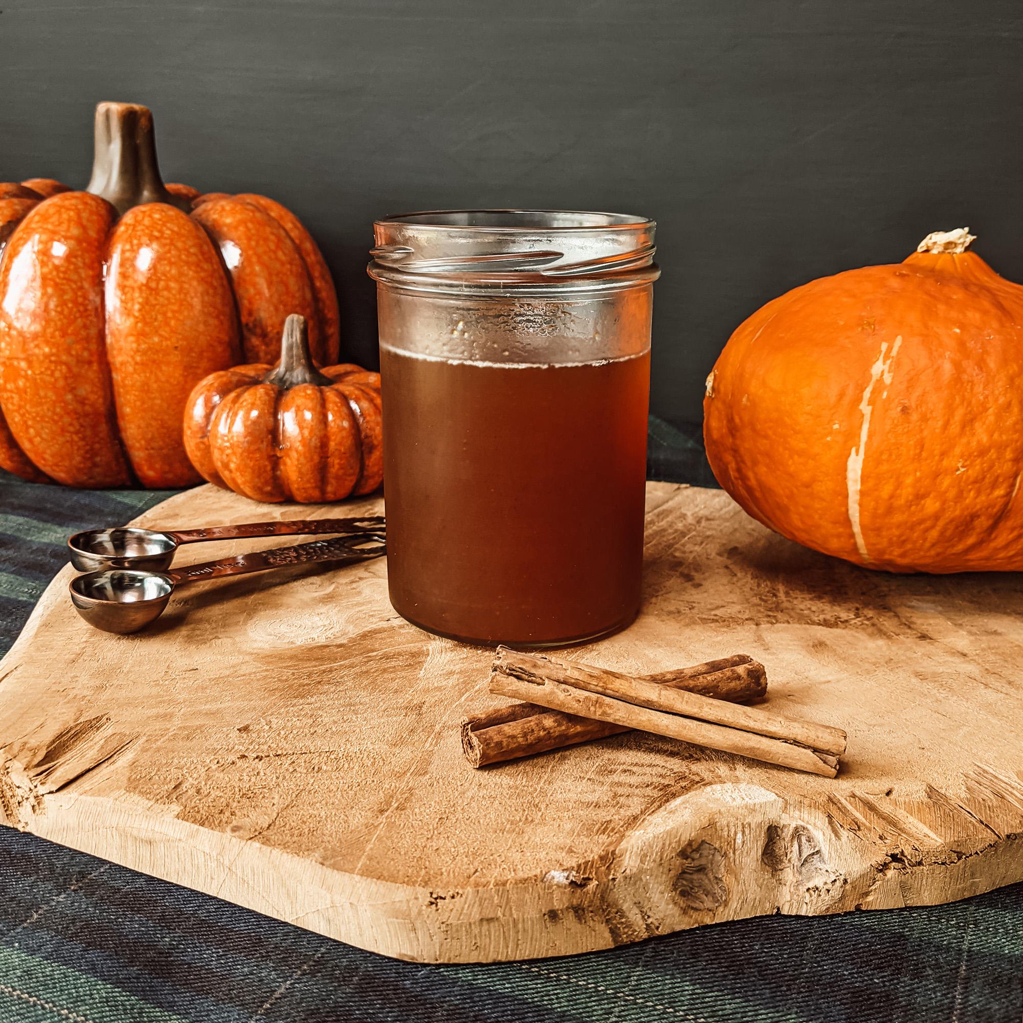Oktoberdots pompoen simple syrup recept