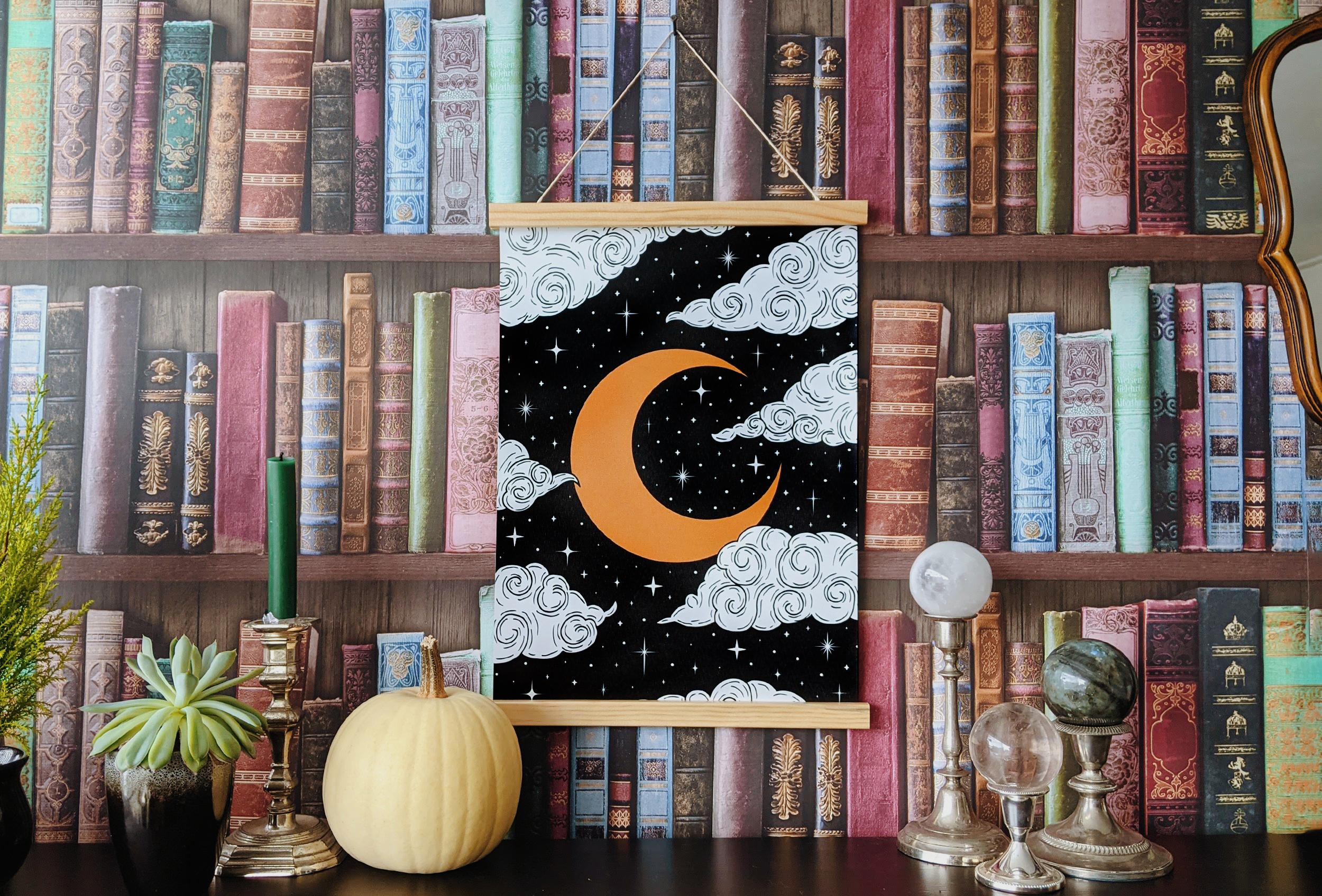 Oktoberdots poster op textiel