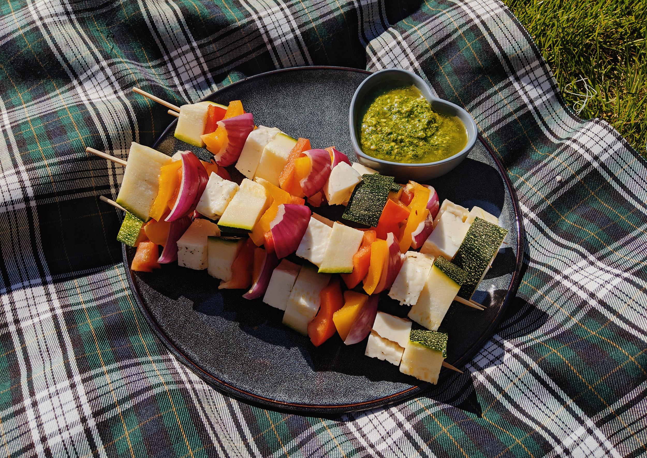 Vega BBQ groentenspiesjes