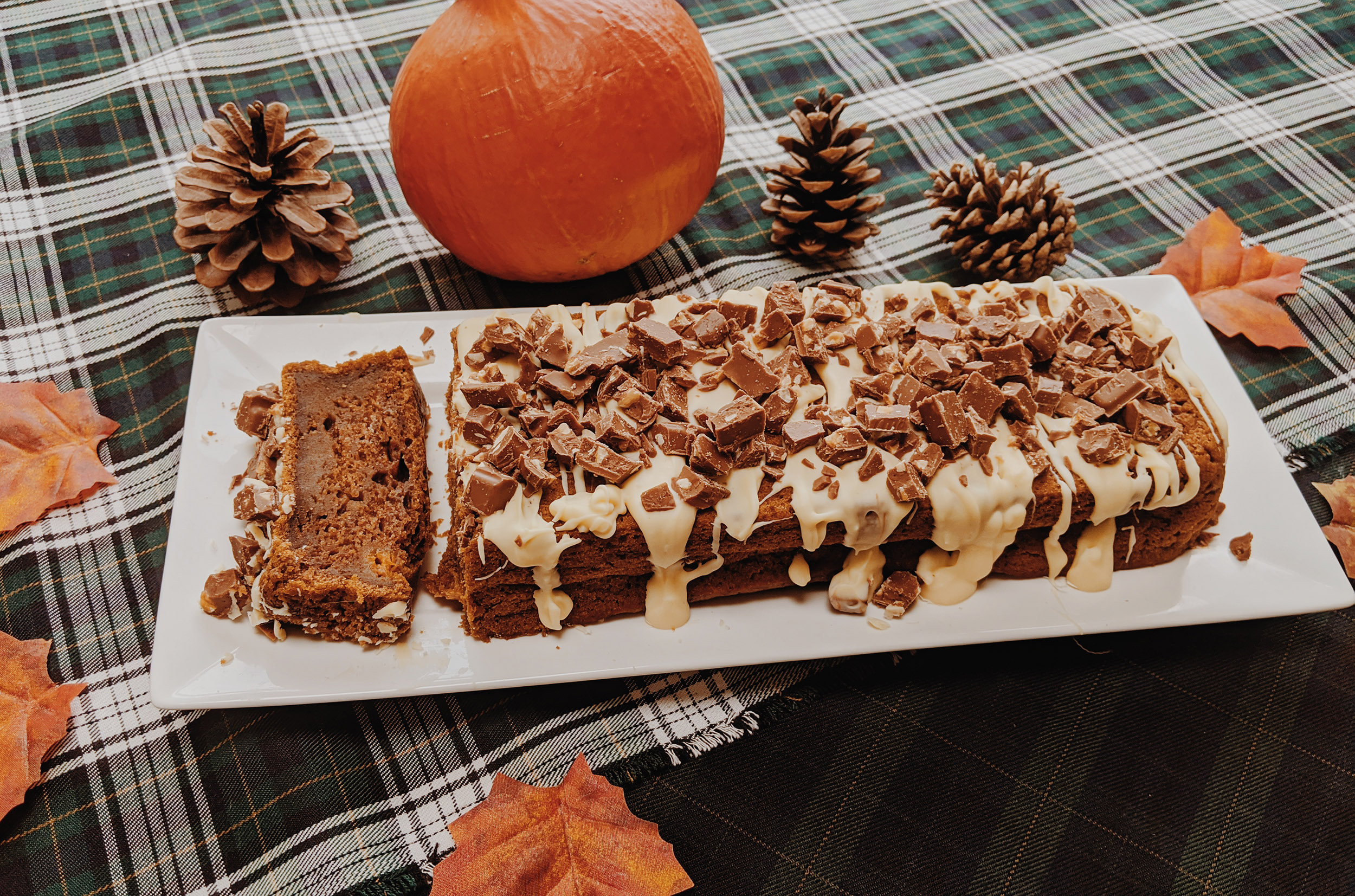 Pompoen-kruidcake met Chocolade